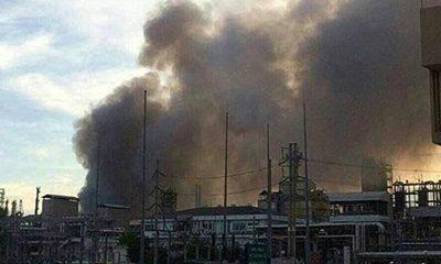 ชาวบ้านผวาฝนกรดพิษ หลังไฟไหม้โรงงาน IRPC