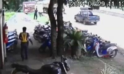 หนุ่มปราจีนชักปืนยิงตำรวจ ขณะถูกเรียกตรวจ