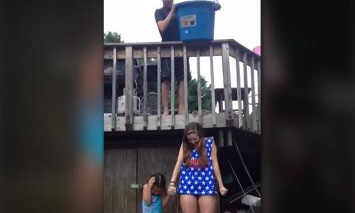 สาวคลิปดัง Ice Bucket ถังตกใส่หัว แก้ข่าวยังไม่ตาย