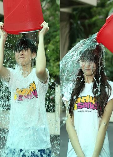 นัน-หงหยกAF10รับคำท้าIce Bucket challenge