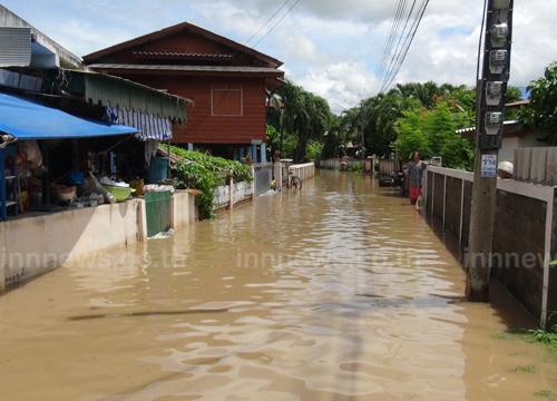 น้ำป่าท่วม2หมู่บ้านลำปางเข้าสู่ภาวะปกติแล้ว