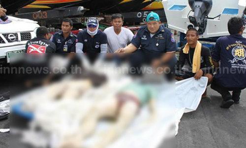 ศพ 2 ชาย-หญิงคอขาดตาย ลอยอืดทะเลพัทยา