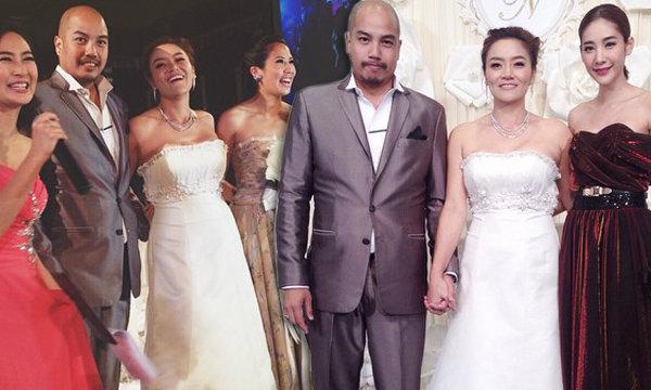 มัลลิกา แต่งงานชื่นมื่น นักการเมืองเพียบ น้องตั๊น คว้าช่อดอกไม้
