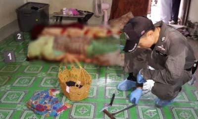 ฆ่าโหดสองผัวเมียห่อมุ้ง ศพอืดคาห้องเช่า