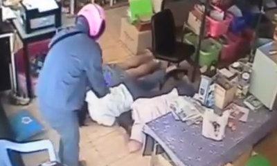 คลิปนาทีชีวิต! โจรจี้ร้านค้าจ่อยิงเหยื่อเรียงตัว คาดคนงานเก่า