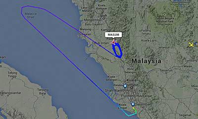 MH198 มาเลเซียแอร์ไลน์ บินวน 4 ชั่วโมง ก่อนวกกลับ