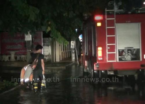 ฝนตกหนักน้ำท่วมขังเทศบาลนครลำปางหลายจุด