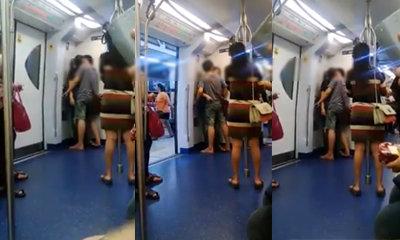 ไม่แคร์สื่อ! ชาวเน็ตจวกหนุ่มสาวไทยพลอดรักบนรถไฟฟ้า