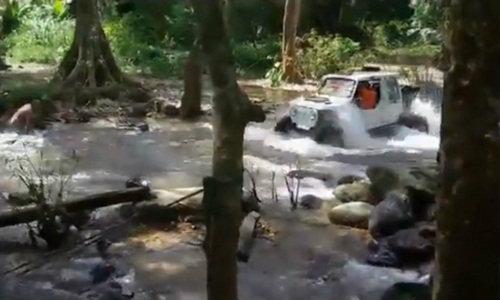 จ่อออกหมายเรียก คลิปแข่งออฟโรดในธารน้ำ ชาวบ้านไม่ทน!