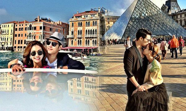 ภาพหวานฉ่ำ! เอมี่ ควง ซี ฮันนีมูนยาวๆ ทวีปยุโรป