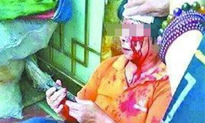 ป้าชาวจีนแซงคิวเข้าห้องน้ำ เจออิฐฟาดหัวเลือดอาบ