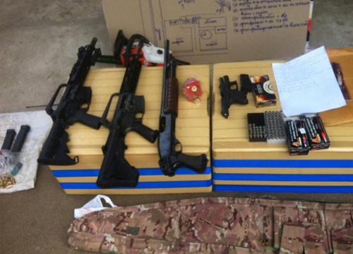 ปปส.ปิดล้อมบ้านจับ3ผู้ต้องหายึดยา-อาวุธ