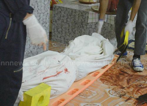 ฆ่าโหดจอบทุบหัวพยาบาลสาวใหญ่หมกบ้านพักตรัง