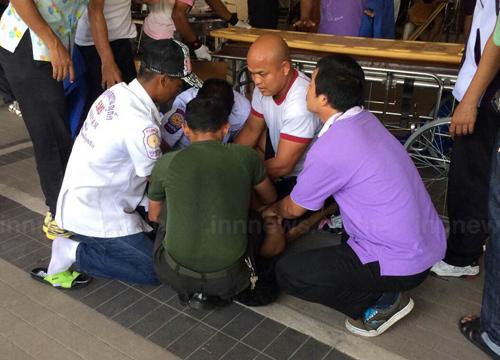 ผู้ป่วยชายร.พ.ภูเก็ตคลั่งกระโดดตึกบาดเจ็บ