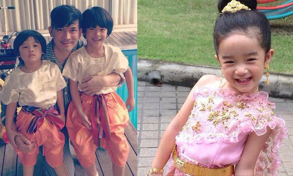 ภาพน่ารัก ลูกคนดังแต่งชุดไทยไปลอยกระทง