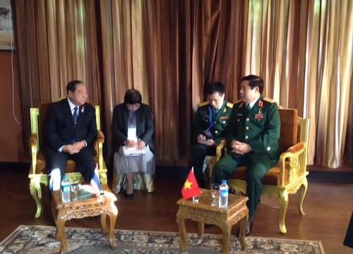 พล.อ.ประวิตรหารือทวิภาคี4ชาติพร้อมแจงสถานการณ์ไทย