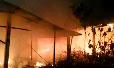 สลด! ด.ช. 5 ขวบ ฝ่าเปลวเพลิงช่วยตาอัมพาต ถูกไฟคลอกดับทั้งคู่