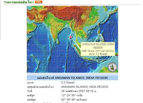 อุตุฯเตือนพายุซินลากูฉ.1-ดินไหวพม่า4.6,อินเดีย5.2R
