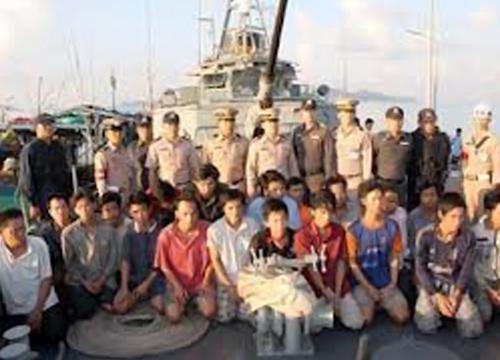 ทัพเรือภาคที่1จับเรือประมงเวียดนาม7ลำ