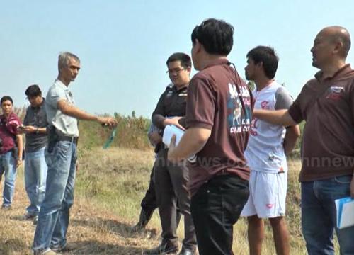พบศพหนุ่มถูกฆ่าโยนทิ้งน้ำกลางทุ่งนาลพบุรี