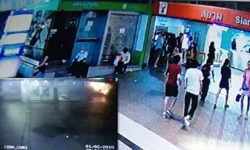 เปิดภาพวงจรปิด วินาทีระเบิดบึ้ม! หน้าห้างพารากอน