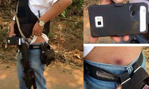 คนร้ายบัญชีดำยิงสวน ตำรวจรอดหวุดหวิดเพราะมือถือ