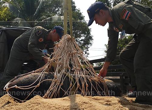 ชุมพร-ระดมทหาร 3 เหล่าร่วมกู้ระเบิด 1,600 ปอนด์