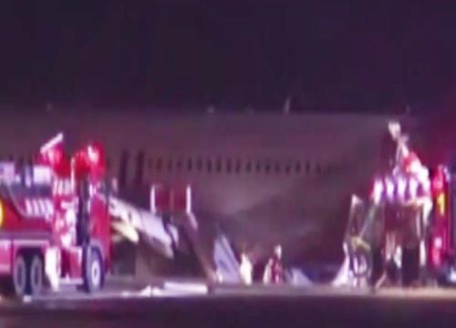 บินโดยสารเกาหลีใต้ไถลรันเวย์ฮิโรชิม่า-เจ็บกว่า20
