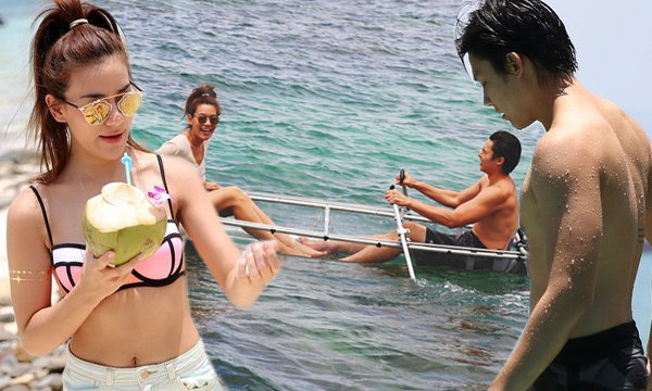 ตามไปฟิน! หมาก ควง คิม ลั้นลาทะเลภูเก็ตพร้อมพ่อแม่