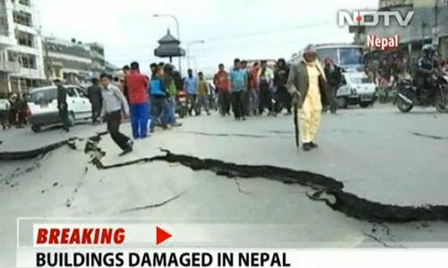 แผ่นดินไหว 7.5 สั่นสะเทือนระดับรุนแรงที่เนปาล