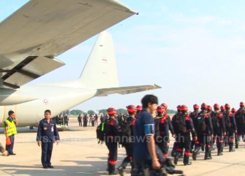 รองเจ้ากรมยุทธการทหารนำจนท.บินช่วยเนปาล