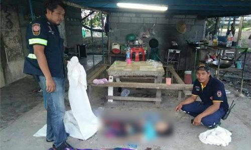 หนุ่มพม่าถูกขอเลิกแทงเมียดับ ลูกเจ็บสาหัส