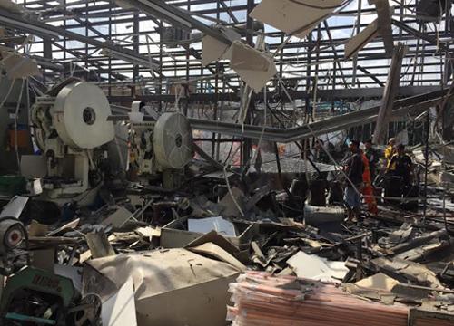 โรงงานบางใหญ่นนท์บึ้มไฟลุกไหม้คนงานตาย1เจ็บ12