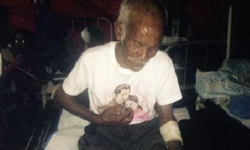 คุณปู่ 101 ปี รอดตายแผ่นดินไหวเนปาล ติดใต้ซาก 7 วัน