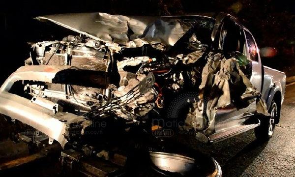 เครียดทะเลาะแฟน ย้อนศรดับไฟหน้าพุ่งประสานรถแก๊สฆ่าตัวตาย