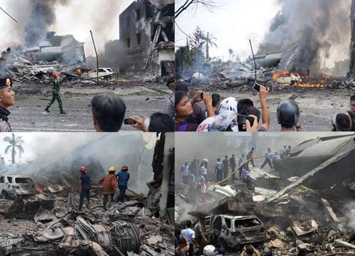 เครื่องบินกองทัพอินโดนีเซียตกใส่บ้านคนตายแล้ว49