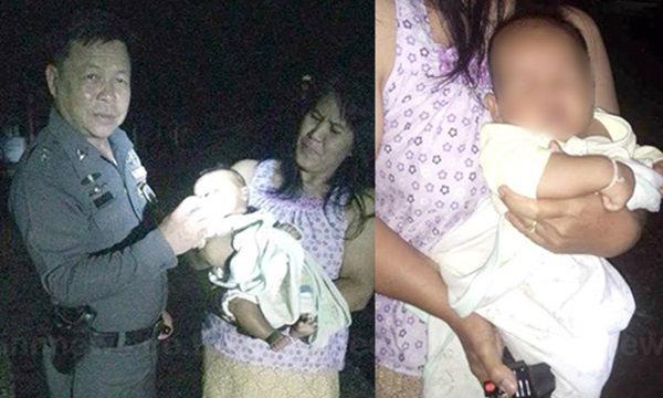 สลด! พบเด็กน้อยทารก 3 เดือนถูกทิ้งในศาลาวัด