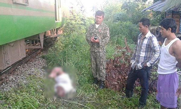 ชายนิรนามยืนให้รถไฟชน ได้รับบาดเจ็บสาหัส