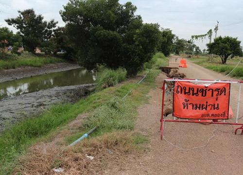 แล้งหนักถนนทรุดหลายจุด-อุดมเดชย้ำเร่งช่วยปชช.