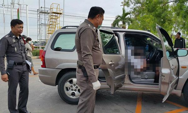 หนุ่มใหญ่จอดรถนอนในปั๊มน้ำมันตายปริศนาพร้อมหลาน 2 ศพ