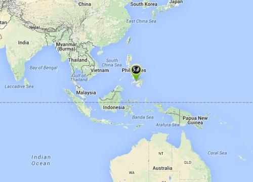 แผ่นดินไหวเกาะมินดาเนาฟิลิปปินส์5.0R