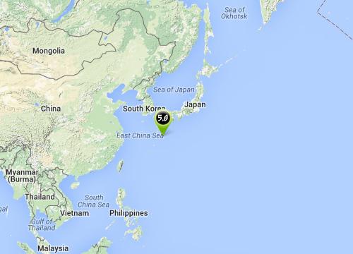 แผ่นดินไหวเกาะคิวชูประเทศญี่ปุ่น5.0R