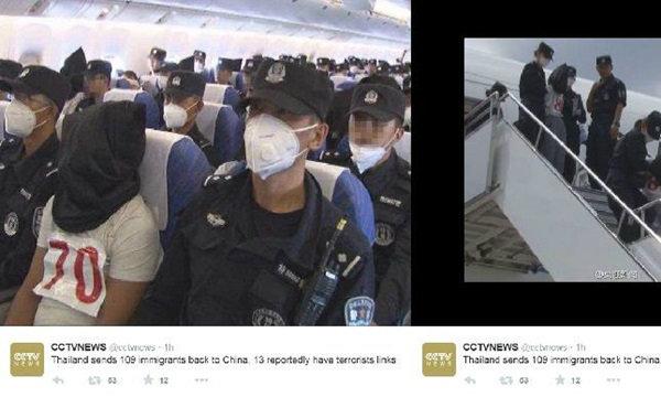 จีนอ้างเกิดการต่อสู้ระหว่างส่งตัว อุยกูร์จากไทย ขณะที่ไทยปฏิเสธไม่มีการใช้ความรุนแรง
