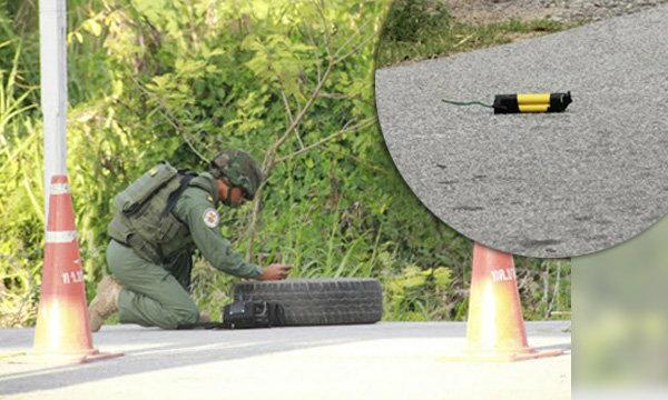 สัตหีบพบวัตถุคล้ายระเบิด วางกลางถนน