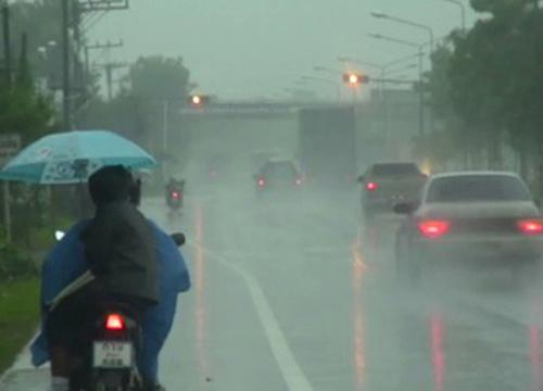 อุตุฯเผยไทยฝนกระจายเว้นใต้ตกน้อย-กทม.60%