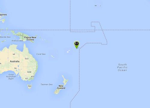 ดินไหวหมู่เกาะตองกา5.1Rยังไม่พบเสียหาย