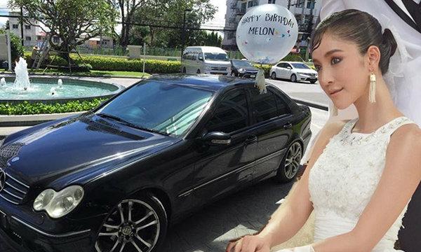 บุคคลปริศนา ซื้อรถเบนซ์เซอร์ไพรส์วันเกิดแตงโม ภัทรธิดา