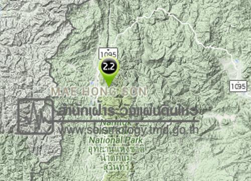ดินไหวอ.เมืองแม่ฮ่องสอน2.2Rยังไม่มีเสียหาย