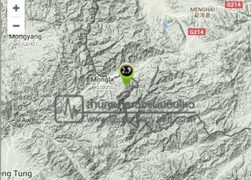 ดินไหวพรมแดนพม่า,จีน2.9Rห่างเชียงราย137กม.