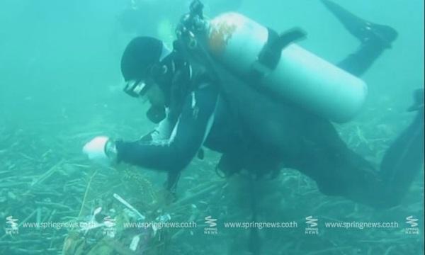 ฟื้นฟูอ่าวกะรน! เก็บขยะใต้น้ำได้กว่า 400 กก.